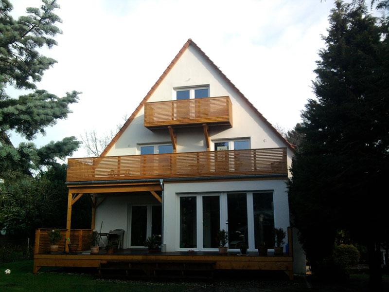 Terrasse Balkon Dach Und Fachwerk